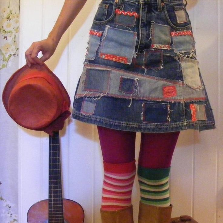 Recycled Denim Skirt 10