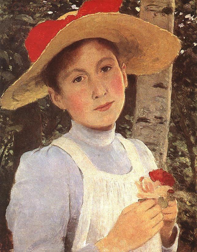 Rózsi Szinyei Merse, the Artists Daughter by Pál Szinyei Merse
