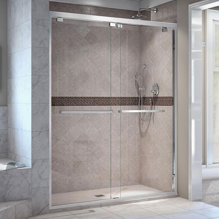 27 best Frameless Bypass Shower Door images on Pinterest | Sliding ...