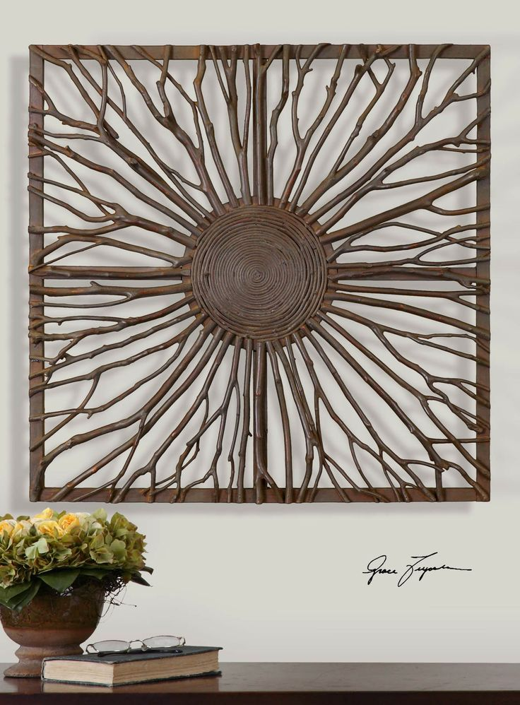 Wood Wall Art And Decor Josiah Square Wooden 13777 Alternative