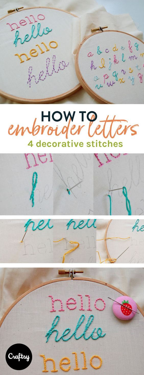 Learn How To Embroider Letters  On Craftsy!