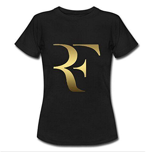 Nesth roger federer Womens Ladies Tee Shirt Customized (USA Size) M Black