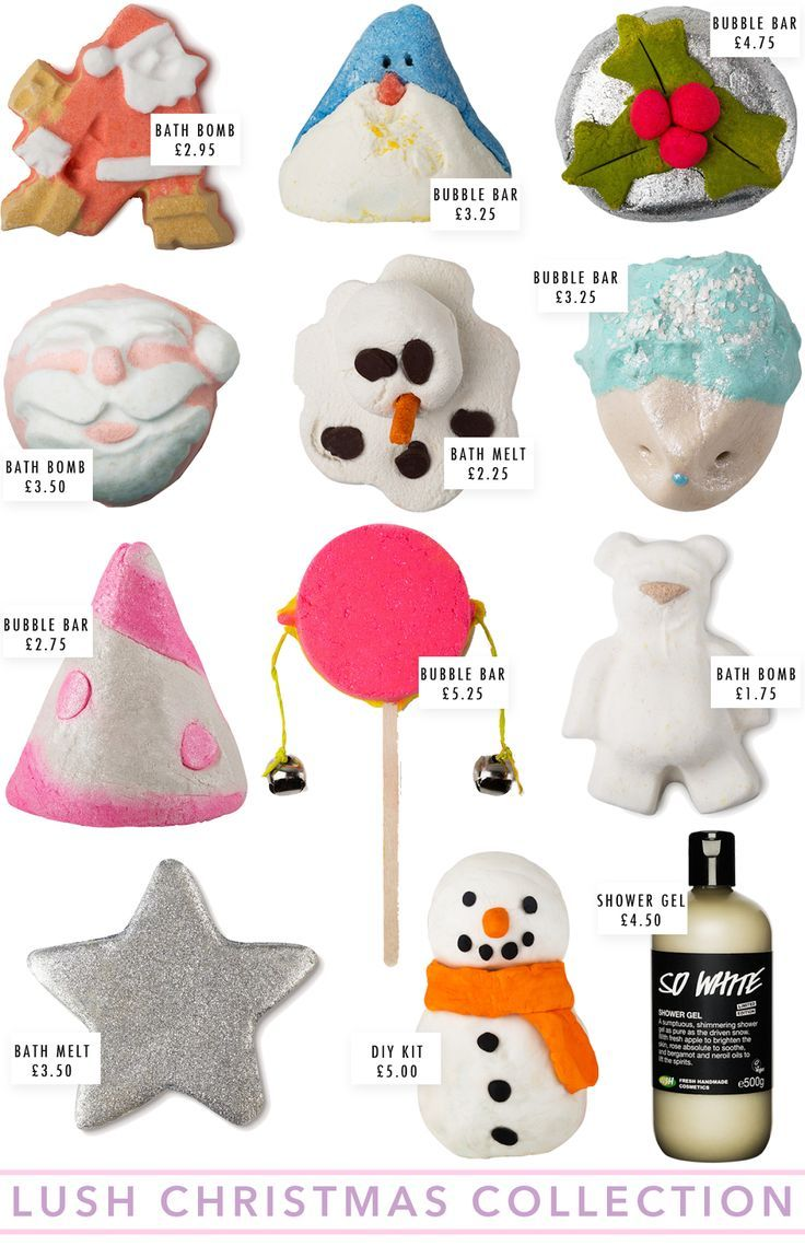 LUSH Christmas Collection 2014 anything from their christmas collection