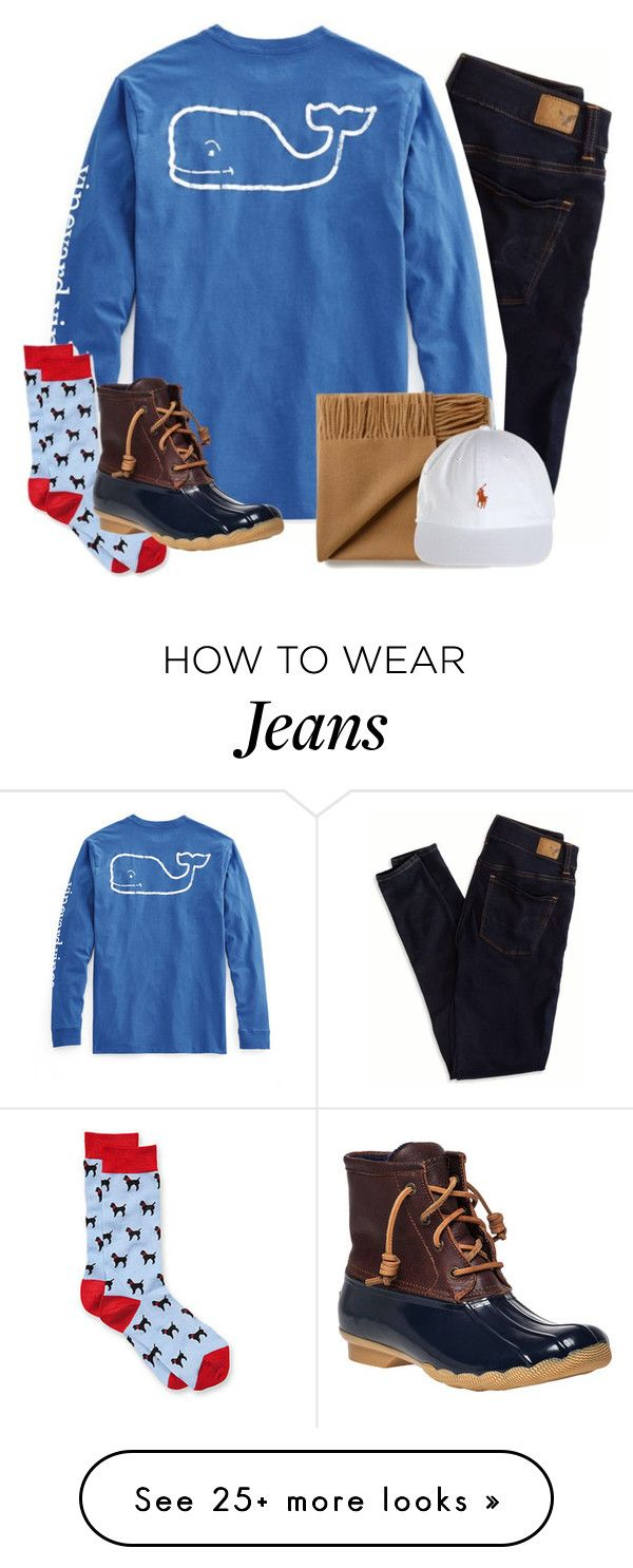 """""""didn't make the soccer team"""" by emmig02 on Polyvore featuring American Eagle Outfitters, Vineyard Vines and Sperry Top-Sider"""