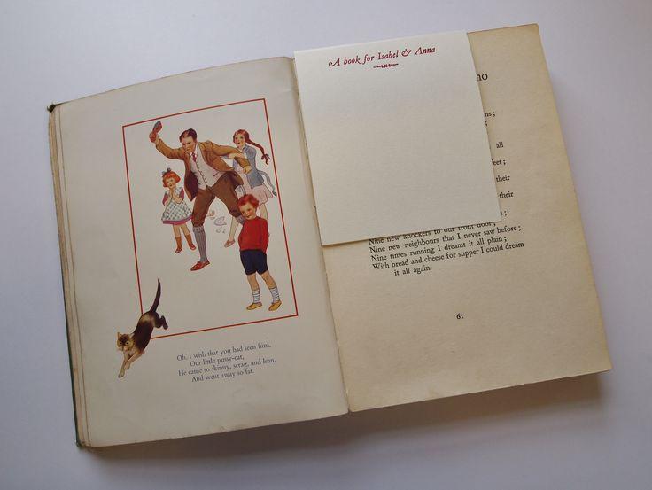 Letterpress book insert for a message