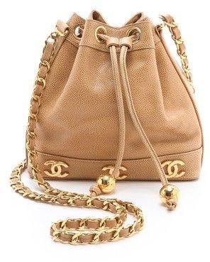 What Goes Around Comes Around Vintage Chanel Caviar Bucket Bag: