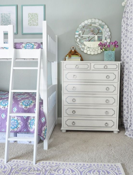 Centsational Girl » Blog Archive » Lavender + Blue Girl's Room Mirror, dresser