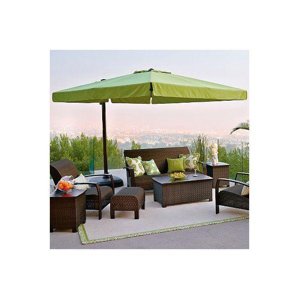 10u0027 Square Side Mount Umbrella   Bronze/Taupe ($999) ❤ Liked On. Cantilever Patio  UmbrellaOutdoor Umbrellas