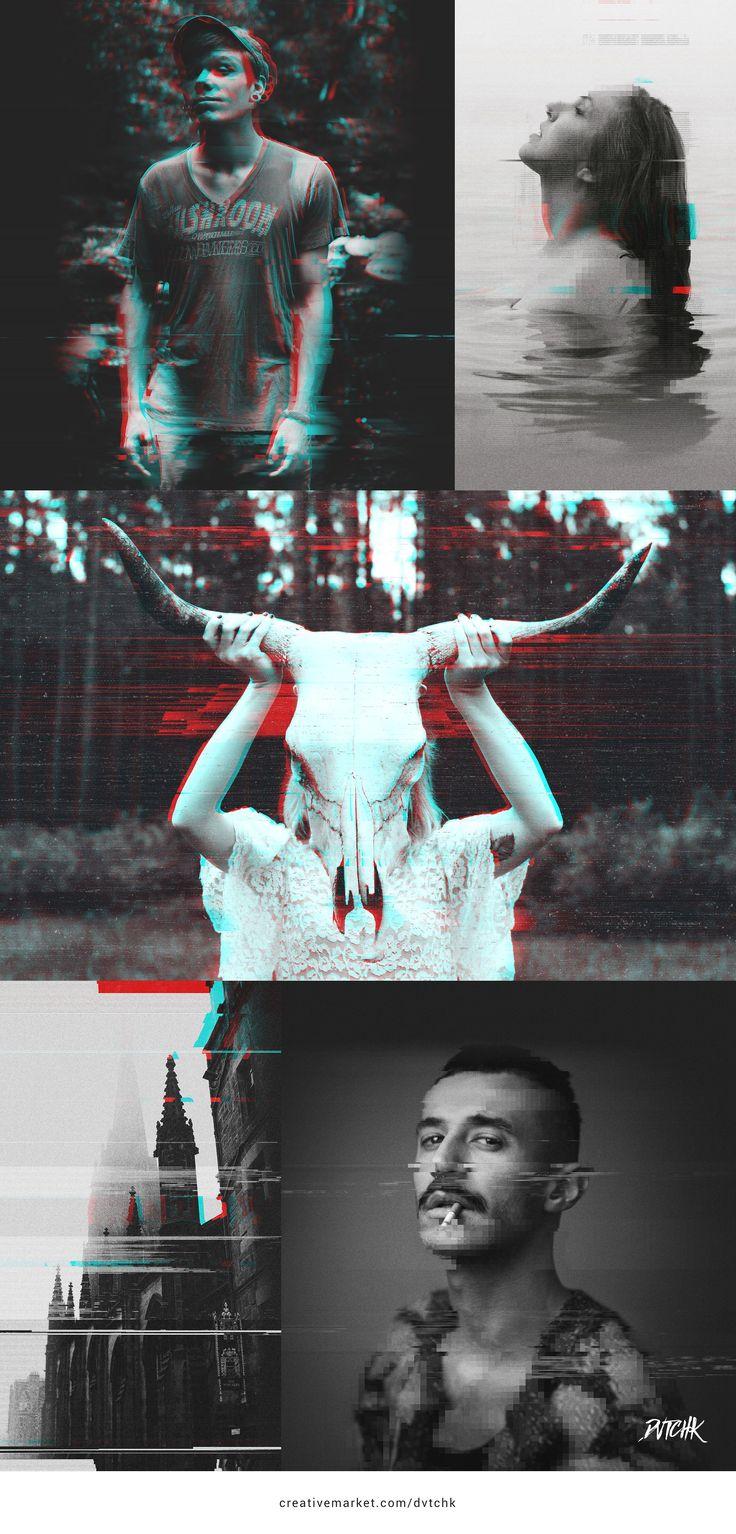 Grunge | Glitch Photo FX by dvtchk on @creativemarket