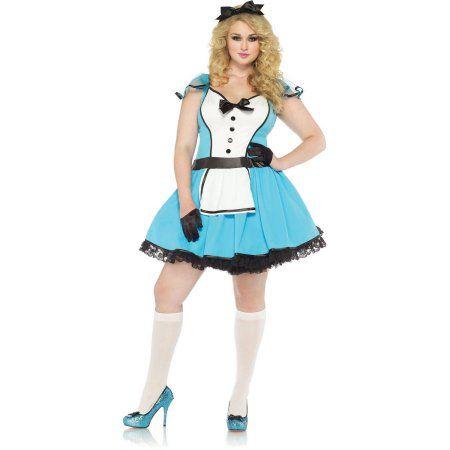 Leg Avenue Plus Size Storybook Alice Adult Halloween Costume, Women's, Size: 1X/2X, Blue