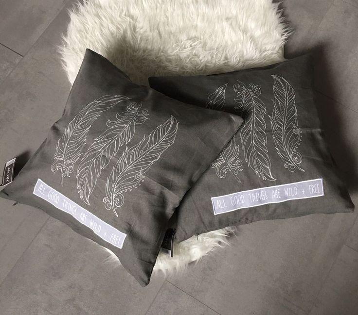Kissenhülle 2x Cushion Kissenbezug Kissen Bezug Sofa Bett Feder Landhaus Shabby    eBay