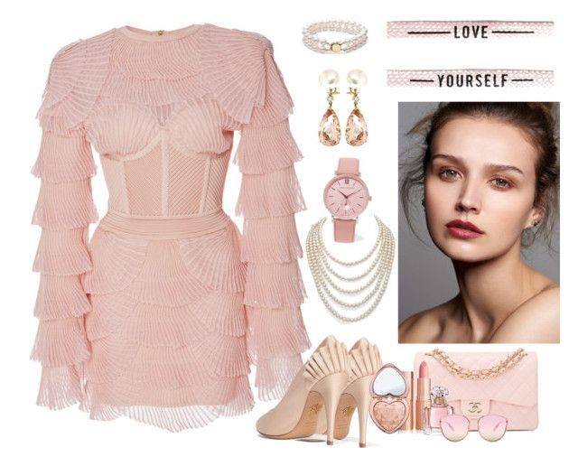 """Remember to Love Yourself"" by glitterlady4 ❤ liked on Polyvore featuring Balmain, Charlotte Olympia, Chanel, Valentin Magro, DaVonna, Larsson & Jennings, Too Faced Cosmetics, Guerlain and Quay"
