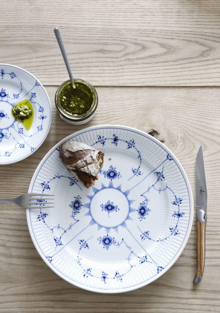 Blue Fluted Plain Plates