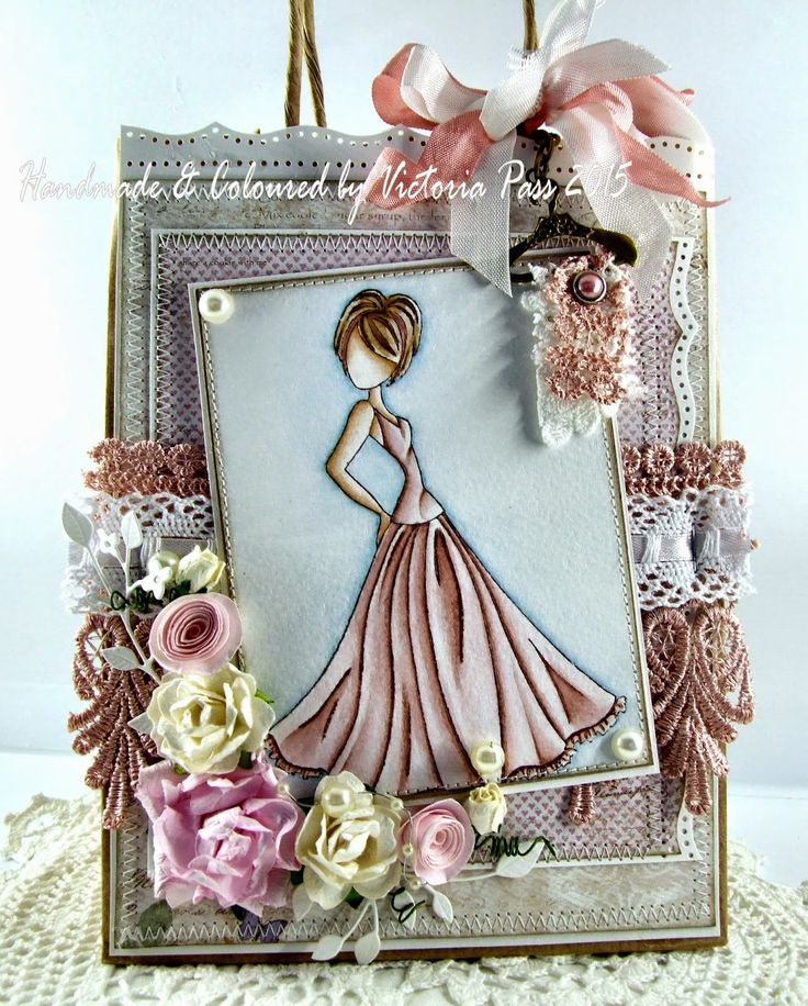 Altered Gift Bag with a Prima Doll