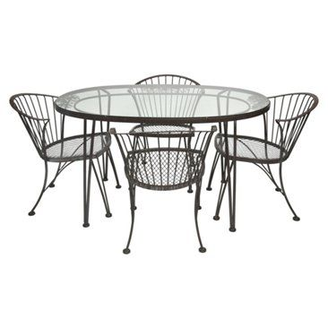 Check out this item at One Kings Lane! Midcentury Woodard Outdoor Dining Set