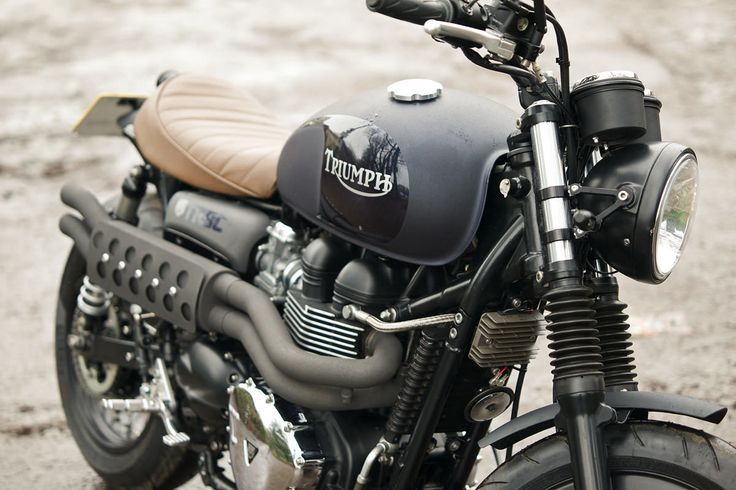 """Most bike builders rhapsodize about their creations. Kev Taggart describes his Triumph Bonneville T100 as """"Small, squat, and tough as old boots."""""""