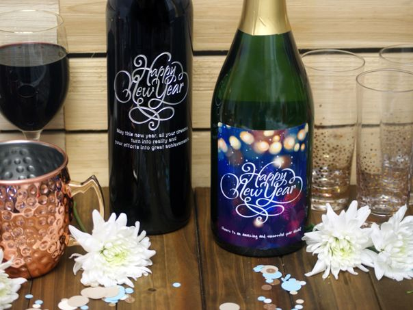 personalized wine bottles new years eve gifts presents custom wine labels etched wine bottle