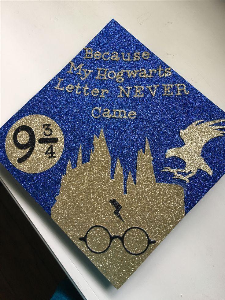 HP inspired graduation cap! #Ravenclaw - - #decoration - #cap #Decoration #graduation