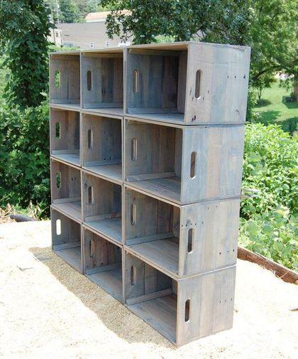 Мебель ручной работы. Заказать Чудо-шкаф из ящиков. Цех №6. Ярмарка Мастеров. Стеллаж, стеллаж из дерева, ящик из дерева