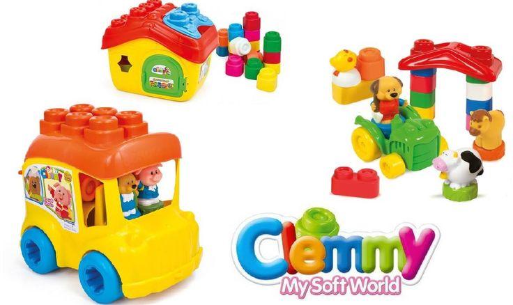 Costruzioni morbide #Clemmy by #Clementoni, a partire dai 6 mesi. #baby #babyclementoni