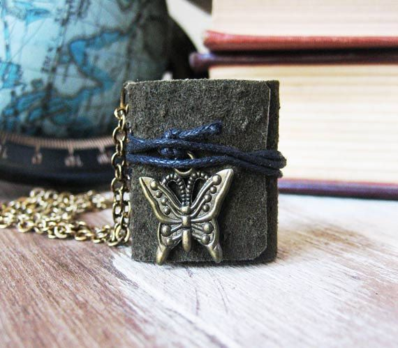 Hey, I found this really awesome Etsy listing at https://www.etsy.com/listing/179271712/book-necklace-jewelry-mini-book-leather