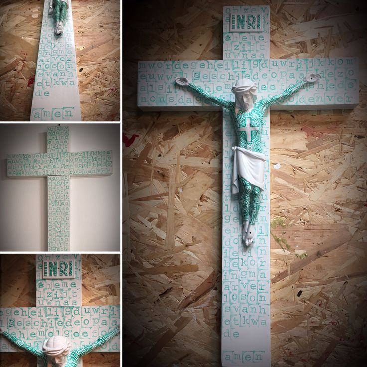 Made by me - tattood Jesus crucifix / prayer our father (onze vader) in Dutch #tijnuskanters