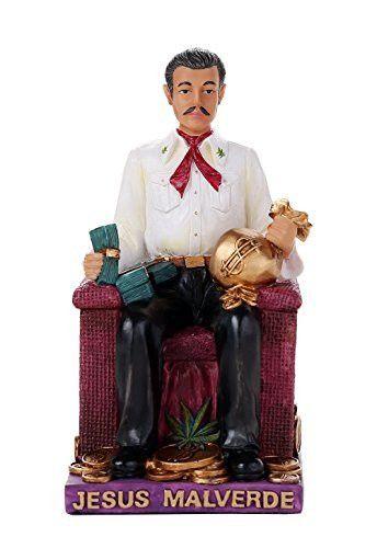 6.5 Inch Jesus Malverde Folklore Statue Sinaloa Religious Figurine Mexico Estatua Figure