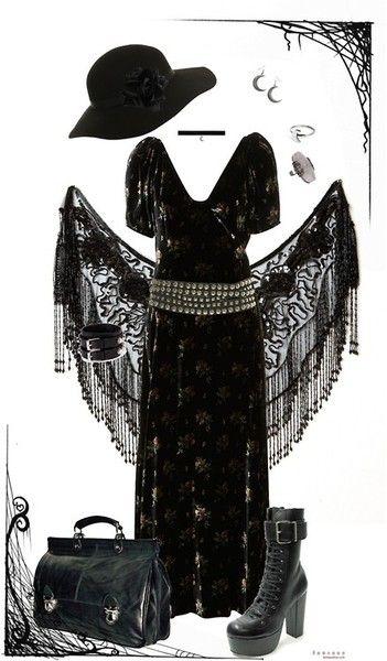 More pretty dark mori frompandora-hydrangea-velours:  fortune teller par pandora-hydrangea-velours utilisant bottes basses