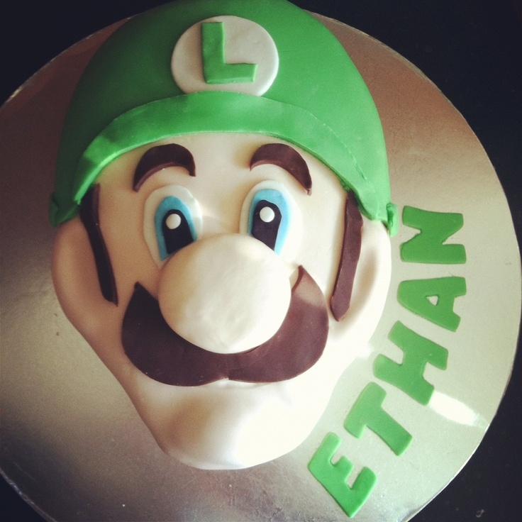 Luigi cake. Bird Treats on Facebook