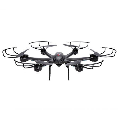 Voomall MJX X601H 24Ghz 6axis Gyro 3D Roll Quadcopter Hexacopter Wireless and HD Video Realtime WiFi FPV C4005 Camera Drone with LED Light Air Pressure Altitude Hold One Key Return Black *** Check this awesome product by going to the link at the image.
