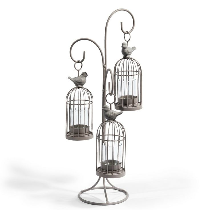 Bougeoir triple Cage oiseau: Cages Vogelkooien, Bird Candle, World, Birdcages Ideas, Bird Cages, House