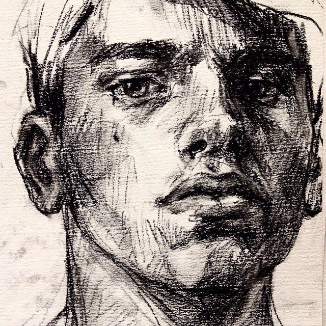 Charcoal. #art #drawing #sketch #illustration