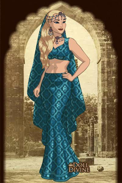 Princesa Lizbeth en traje Árabe