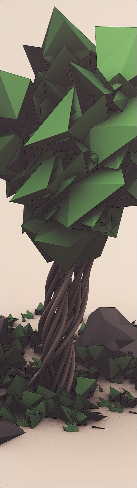 Tree 2 by Friedrich Neumann, via Behance