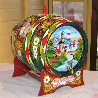 Canal Arts by Terence - Artwork - Canalware - 'Roses and Castles' - Barrels
