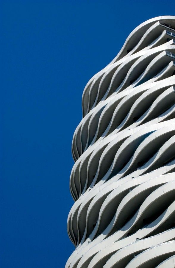 The Wave, waveform exterior residential tower building