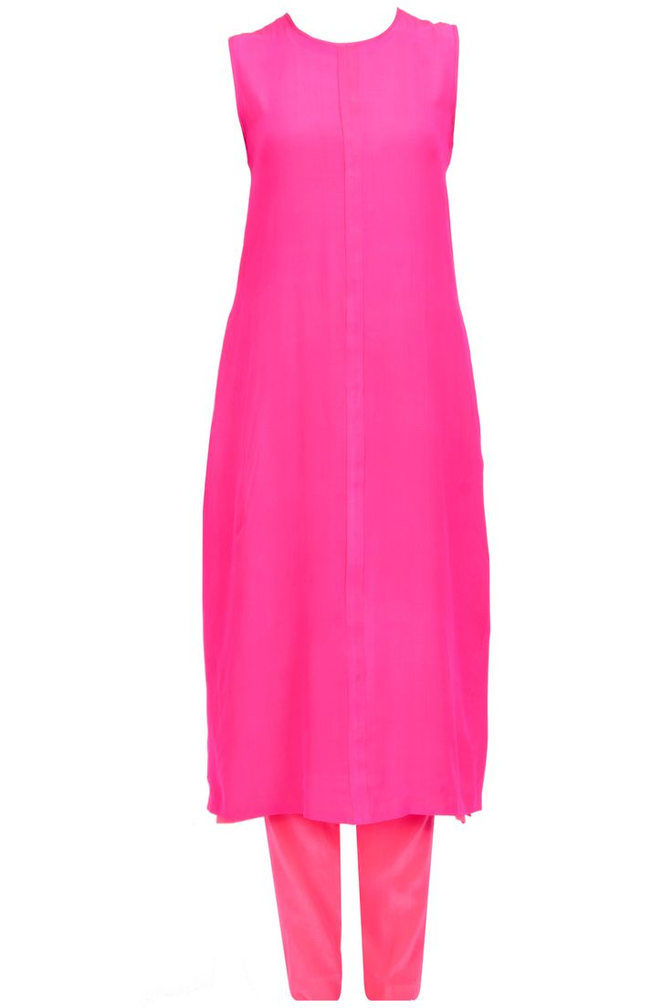 Fushia pink column dress with pants available only at Pernia's Pop-Up Shop.