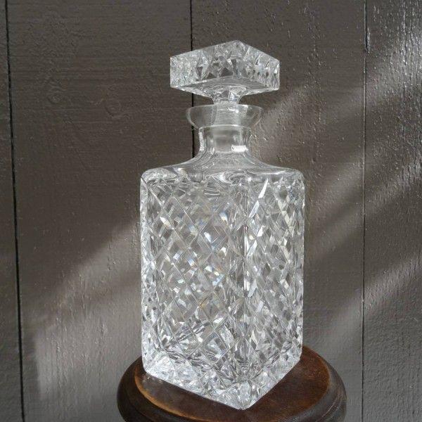 Ruit geslepen kristallen whiskey karaf