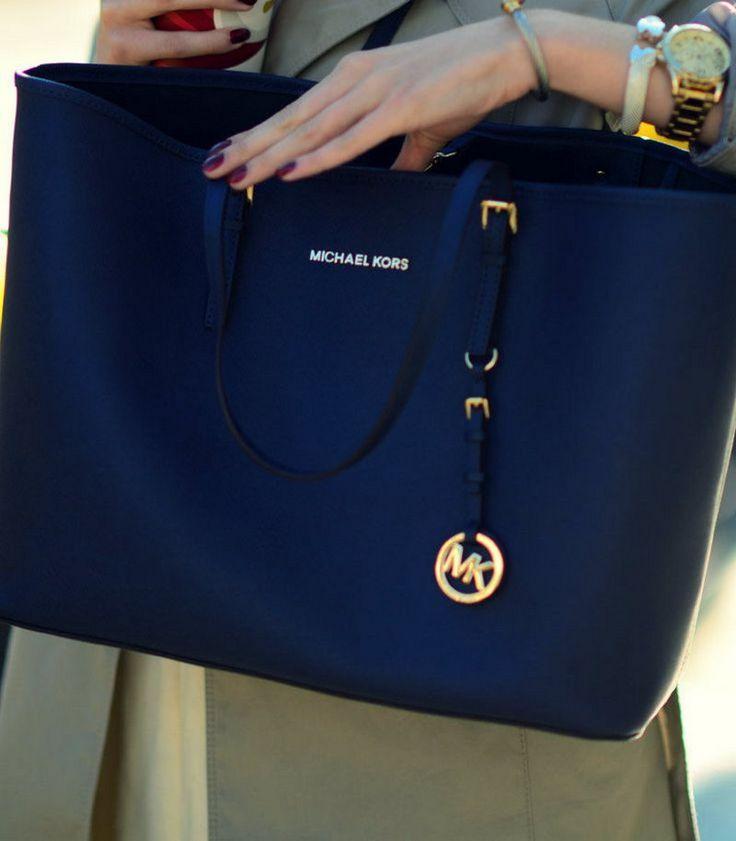 Buy mk navy blue bag   OFF66% Discounted 98b2b1b100232