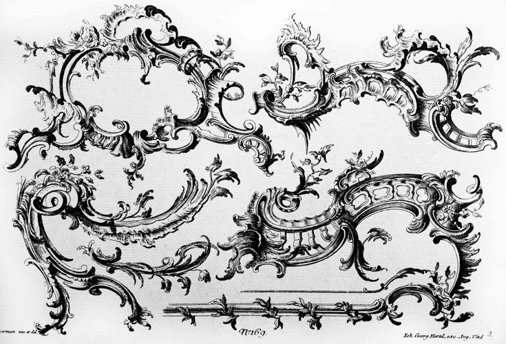 rocaille design of fr xav habermann drawings and prints pinterest rococo design. Black Bedroom Furniture Sets. Home Design Ideas