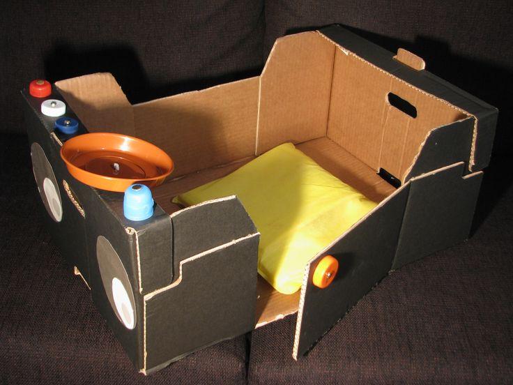 coche infantil con caja