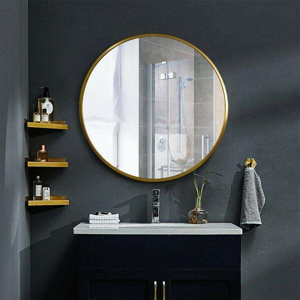 Bathroom Design Ideas To Inspire Your Next Renovation In 2021 Round Mirror Bathroom Bathroom Vanity Mirror Gold Mirror Bathroom