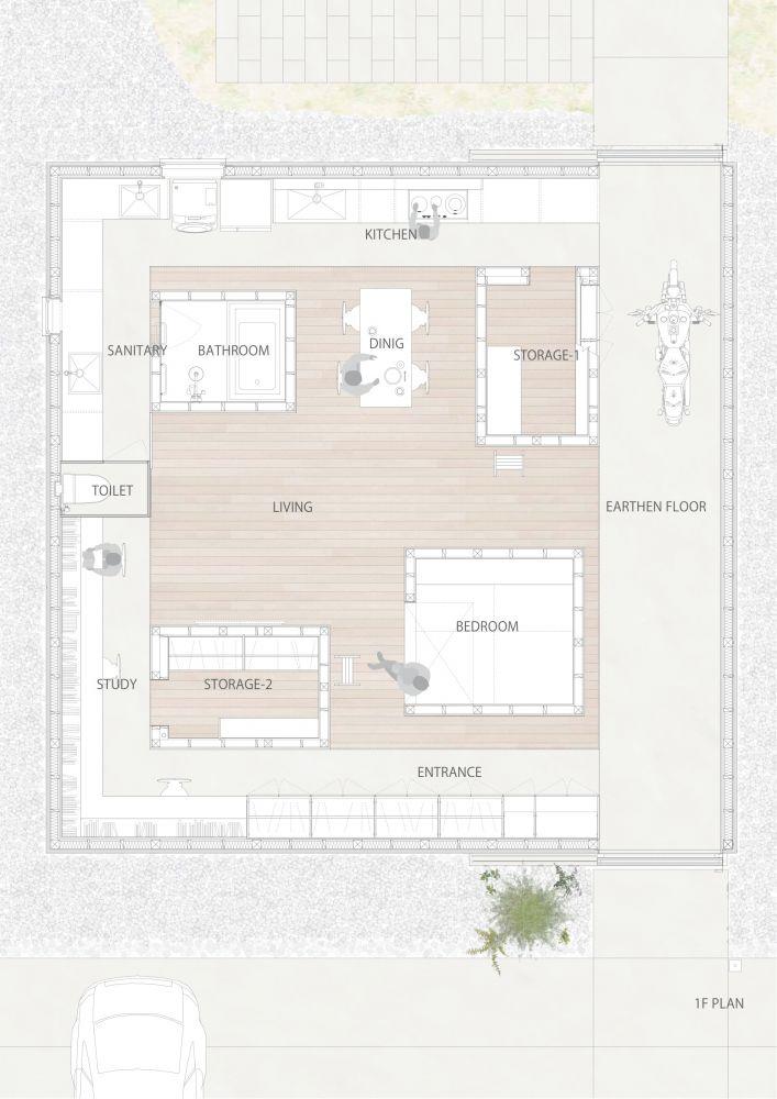 PLAN_Light Walls House / mA-style Architects