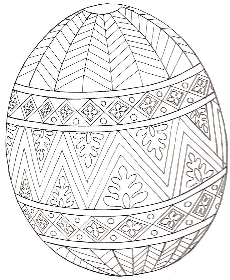 Jan Brett design egg coloring page