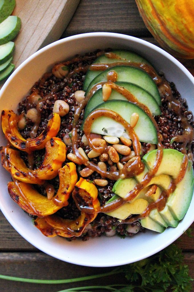 Nourishing Quinoa Bowl with Delicata Squash : LeelaLicious
