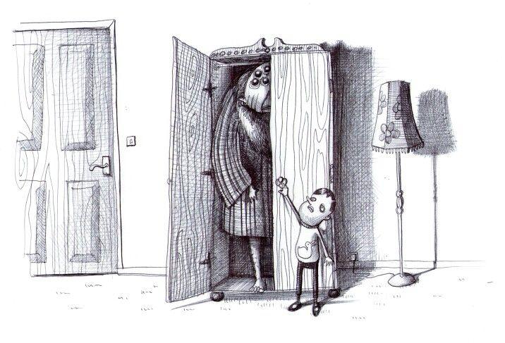 'The Wardrobe'.Illustration by Chris Harrendence