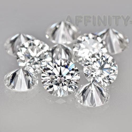 Round 1mm to 10mm White Cubic Zirconia Stone VVS Grade Korean Lot #AffinityHomeShopping