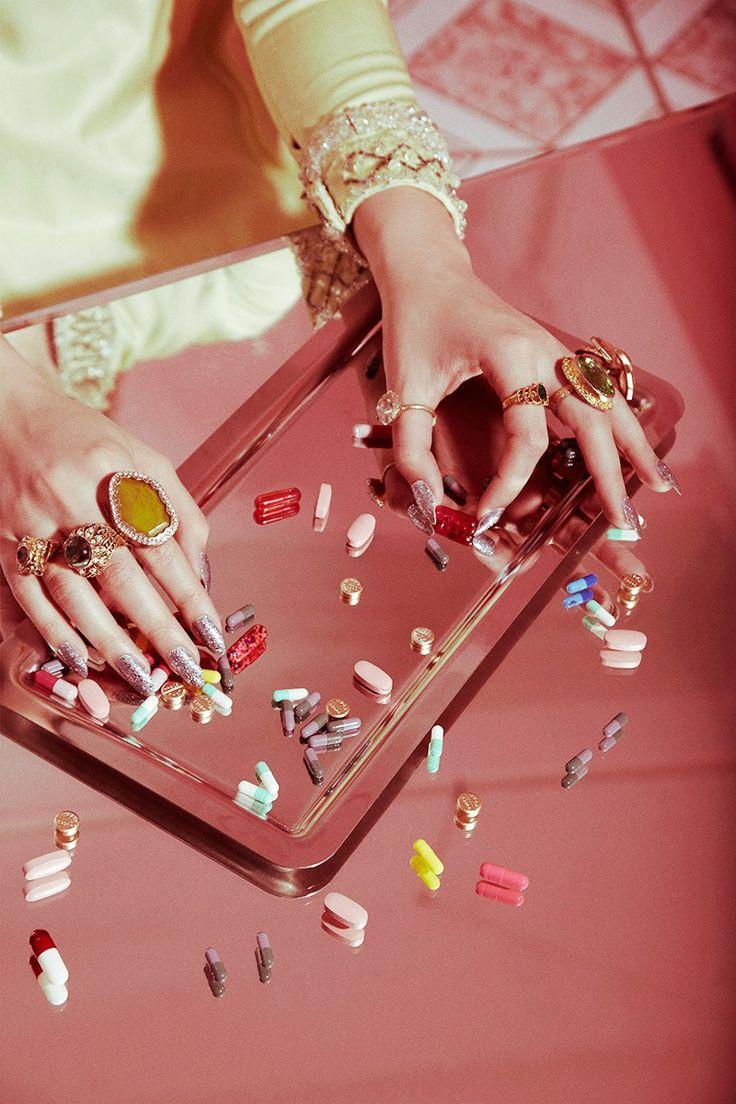 "melaniekristinrose: ""Valley of the Dolls Pill Popping Nails Beauty Shoot | Photographer: Jamie Nelson """