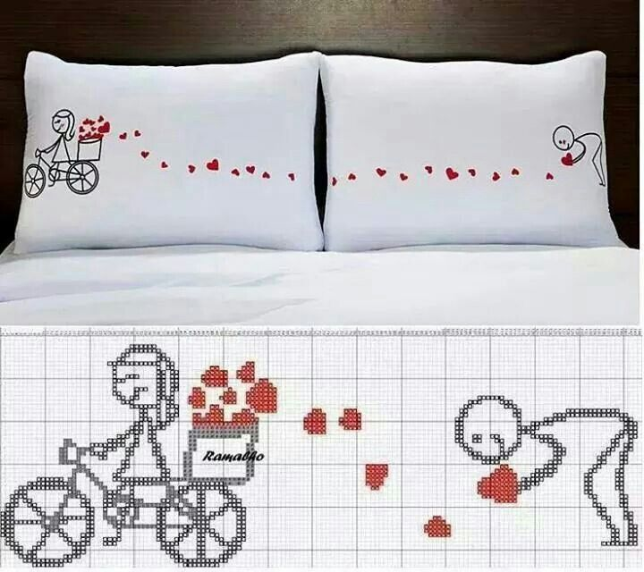 Lovely lovers on pillows...