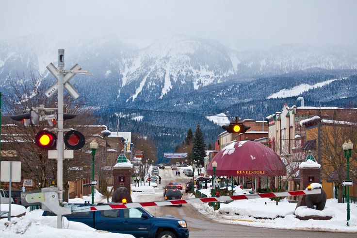 View of Downtown Revelstoke, BC